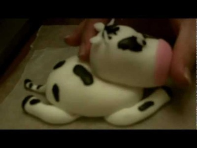 How to Make a Fondant Cow Part 2
