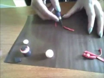 How to make a kokeshi with polymer clay Part 1