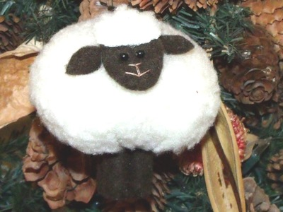 How to make a stuffed animal sheep, lamb decoration with fleece and felt