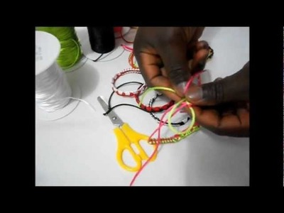 How to make african bracelets , ( ONE LOVE BRACELETS  ) African love
