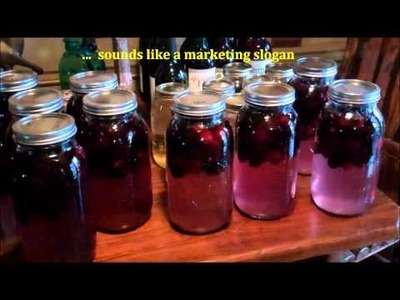 How To Make Easy Homemade Wine ~ Making Blackberry Wine