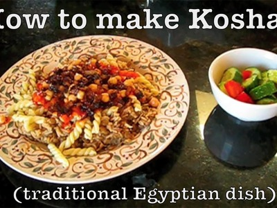 How to make Egyptian Koshari (Kochery), with Magda and Sandra