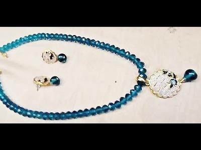 How to make Fashion jewelry - stone pendant set