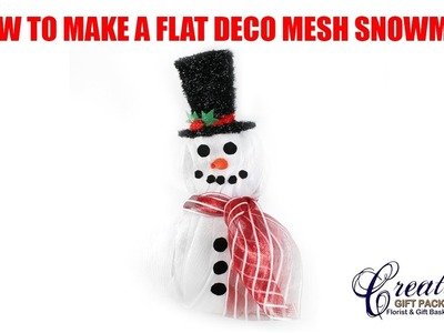 How to Make our 3 Piece Snowman with Poly Deco Mesh!