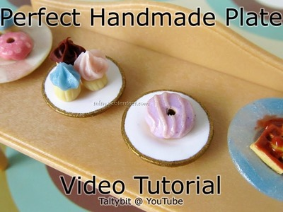 How to Make Polymer Clay Plates Tutorial without molds