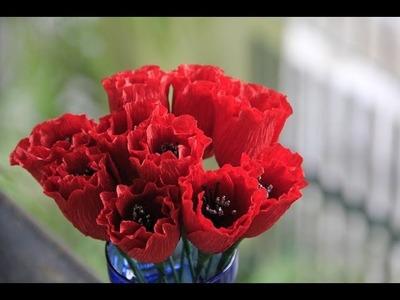 [How to make] TULIP PAPER FLOWER TUTORIAL - Hướng dẫn làm hoa tulip bằng giấy nhún