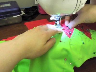 How to Sew Appliqué Stretch on Stretch Fabrics Swimsuits.Dancewear.Costumes