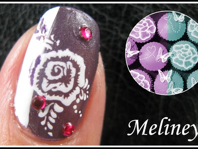 INVERSE FLOWER NAIL DESIGNS | ROMANTIC VALENTINE'S DAY KONAD STAMPING NAIL ART TUTORIAL EASY A43
