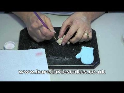 Karen Davies Cake Decorating Moulds. Molds - tutorial. how to - Christmas Teddy in Mitten