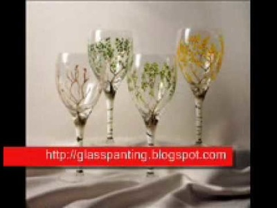 Learn how to make Glass painting art 0001