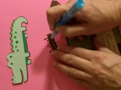 Make a card using Cricut Create A Critter Alligator