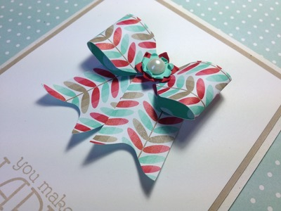 Make a paper bow on the Envelope Punch Board featuring Stampin' Up! products