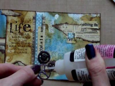 Mixed Media Postcard Art - Life