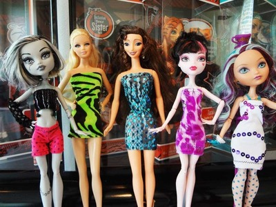 MONSTER HIGH TUBE DRESS TUTORIAL