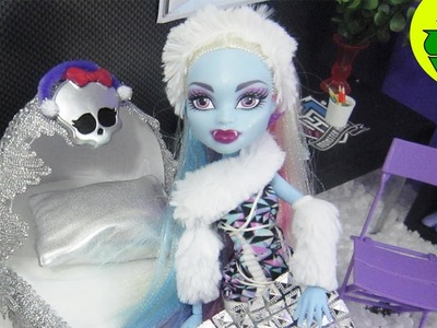 Monster High Tutorial:  Abbey Bominable Doll Bed - Recycling - EP