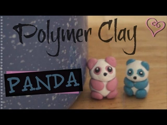 PANDA - Polymer Clay Charm - How To