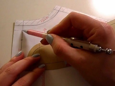 Pattern Cutting Tutorial: How To Lower Necklines.Make Grown On Facing For Convertible Collar Shirt