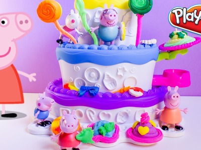 Peppa Pig Play Doh Cake Mountain Playset Sweet Shoppe Peppa's Birthday Cake Dough Set Plastilina