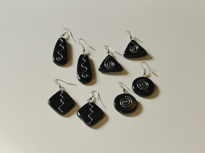 Polymer Clay Earrings with Wire Embellishments Tutorial