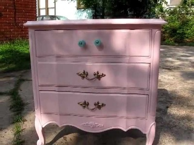 Refinishing Bella's French Provincial Furniture - Shabby Chic part 1