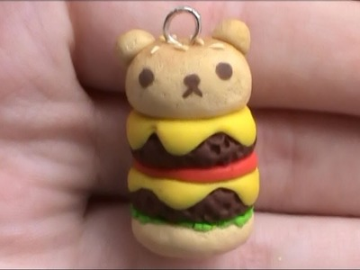 Rilakkuma Burger Polymer Clay Tutorial