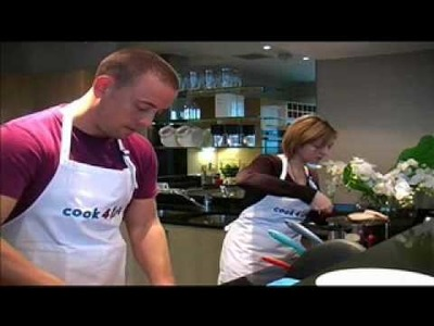 Sam and Amy cook healthy breakfast.wmv