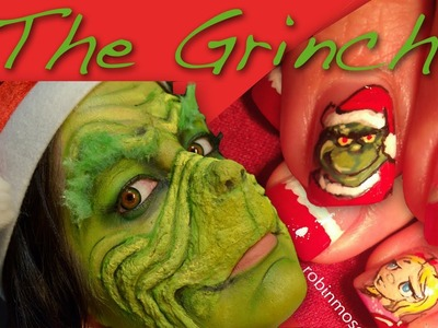 The Grinch. Collab with RobinMosesNailArt