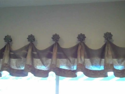 Turn a Scarf  into an Amazing Valance