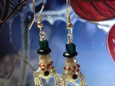 (Tutorial) Snowman Earrings (Video 100)