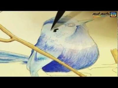 Art Lesson: How to Paint a Fairy Wren using  Mont Marte Watercolour Paint