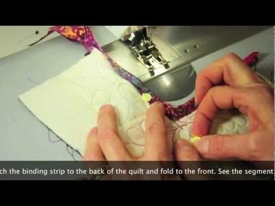 Binding Inside Corners of Quilt
