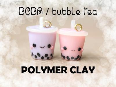 Boba. Bubble Tea Polymer Clay Charm Tutorial!