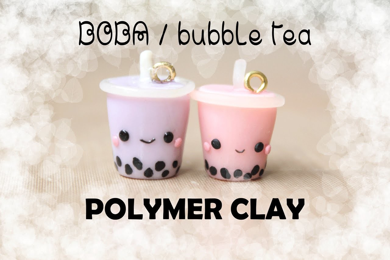 Boba. Bubble Tea Polymer Clay Charm Tutorial!