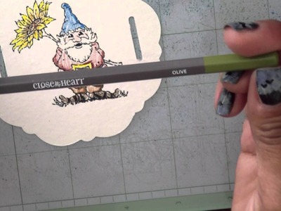 Building Blocks: Watercolor Pencil Tutorial (Cute Gnome Card)