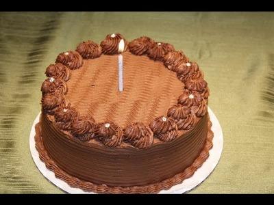 Chocolate ganache cake decoration