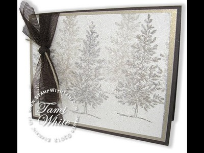 Dazzling Dryer Sheet Holiday Sparkle Card featuring Stampin' Up! products WOW