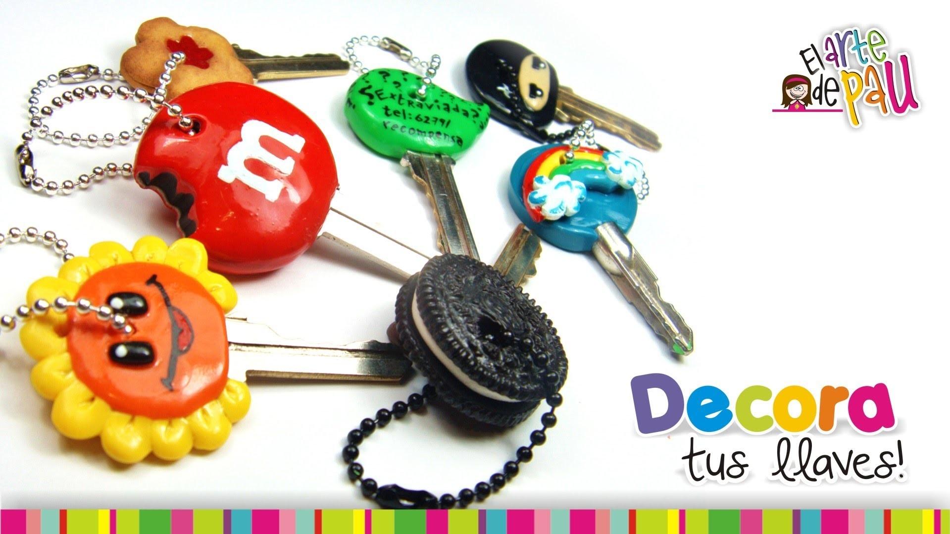 Decorate your keys with Polymer clay. Decora tus llaves con Arcilla Polimérica