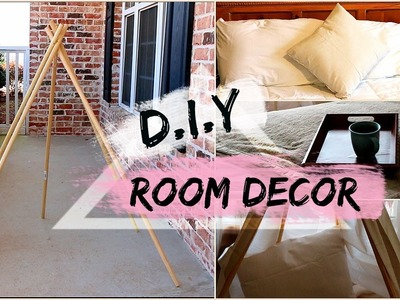 D.I.Y.  Room Decor | Tumblr Inspired Modern Chic