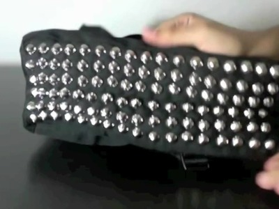DIY  STUDDED BOOK BAG