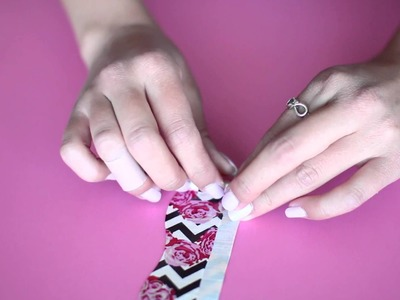 Duck Tape Crafts with LaurDIY: How to Make a Duck Tape Flower