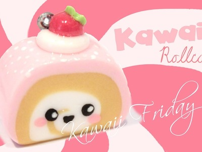 ◕‿‿◕ RollCake! Kawaii Friday 71 (Tutorial in Polymer Clay)
