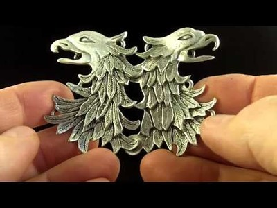 Eagle Cloak Clasp a Medieval Clothing Accessory