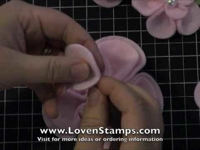 Fabulous DOUBLE Fleece Flowers: Meg's Stamping 101