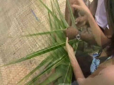 Fiji weaving - learn how to make Fijian basket