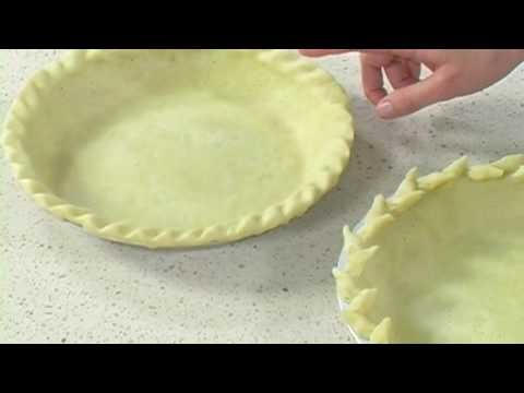 How to Crimp Decorative Pie Crusts