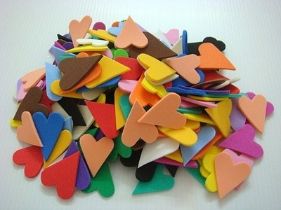How to cut small heart shapes