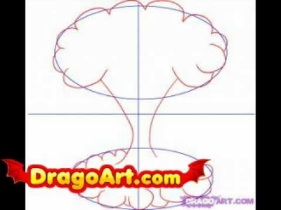 How to draw a mushroom cloud, step by step