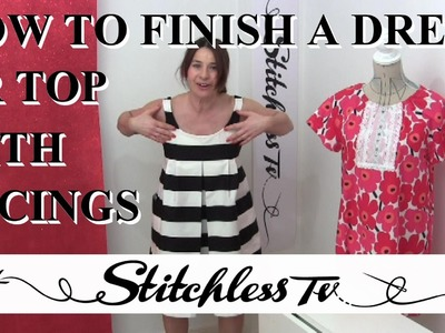 How to finish a dress or top with facing