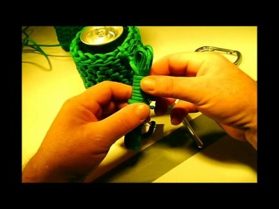 How to Make a * COOL PARACORD CAN or WATER BOTTLE COOZIE Part #2