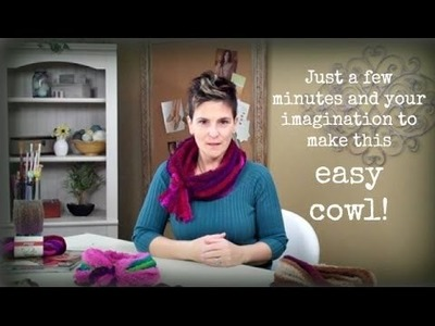 How to Make a Cowl in Minutes with Strata from Premier Yarns